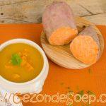 Soep van zoete aardappel