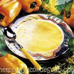 Ga jij Genieten van Gele Paprikasoep met mascarpone of lekkere kruidenkaas?